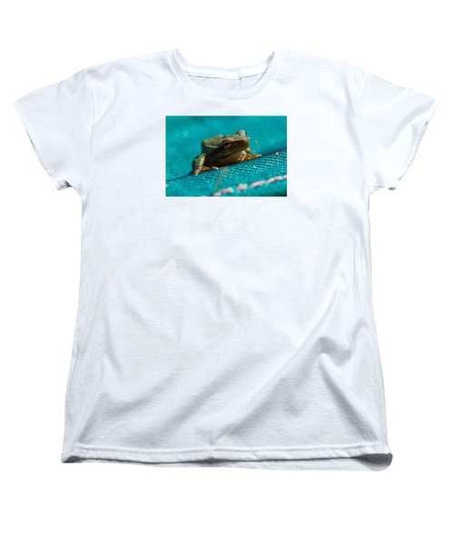 Women's T-Shirt (Standard Cut) featuring the photograph Pool Frog by Richard Patmore