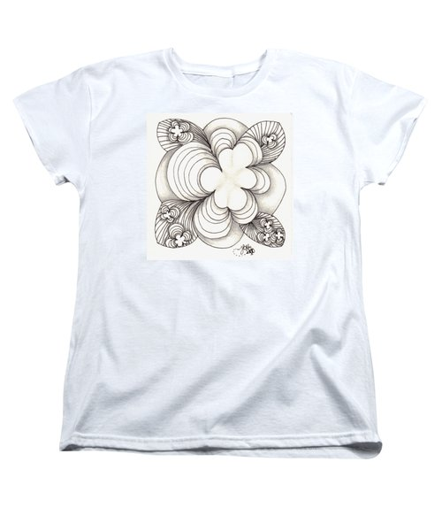 Popcloud Blossom Women's T-Shirt (Standard Cut) by Jan Steinle