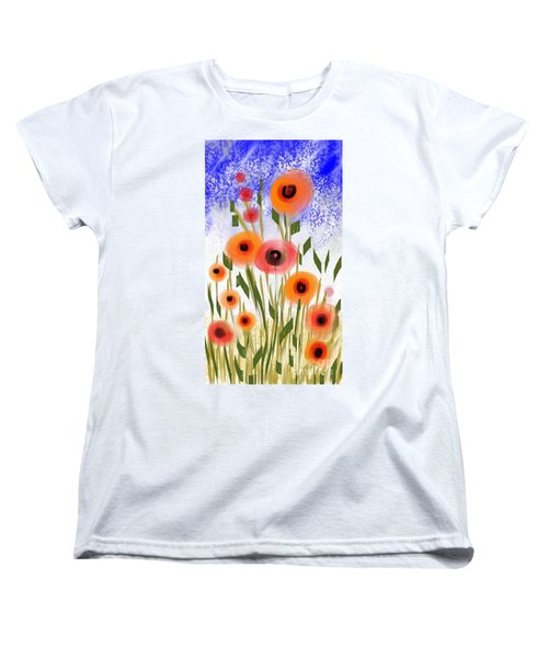 Poppy Garden Women's T-Shirt (Standard Cut) by Elaine Lanoue
