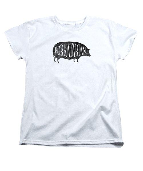 Porkatarian Pig Women's T-Shirt (Standard Cut) by Antique Images