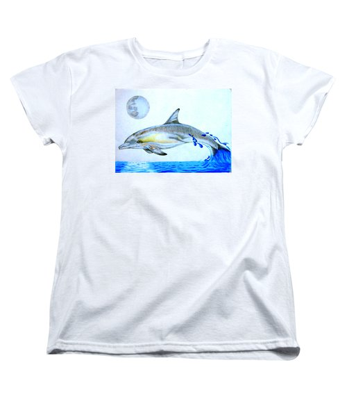 Women's T-Shirt (Standard Cut) featuring the drawing Porpoise by Mayhem Mediums