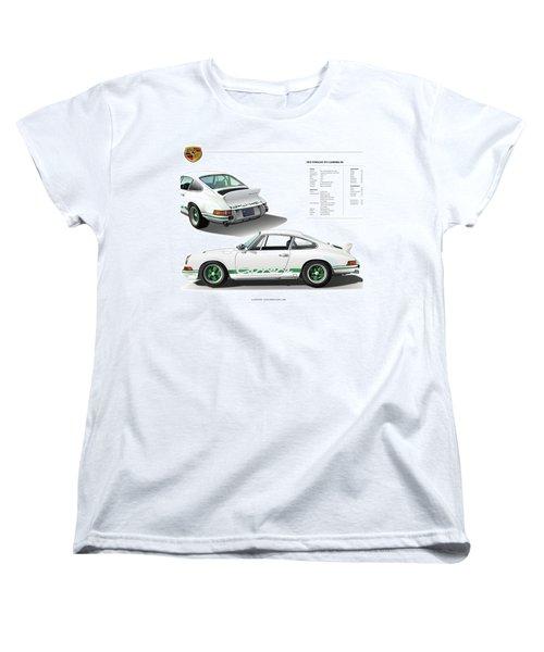 Porsche 911 Carrera Rs Illustration Women's T-Shirt (Standard Cut) by Alain Jamar