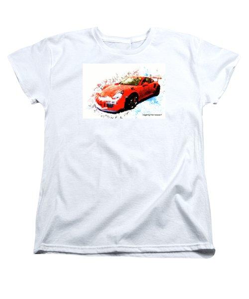 Porsche 911 Gts Women's T-Shirt (Standard Cut) by Roger Lighterness