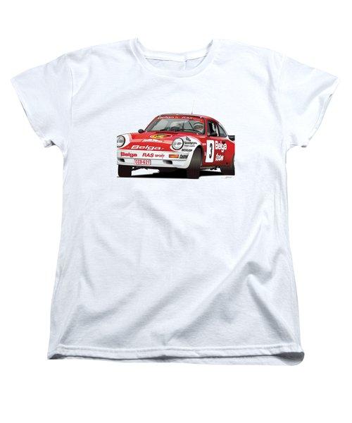 Porsche 911 Sc Rs Belga Team Women's T-Shirt (Standard Cut) by Alain Jamar