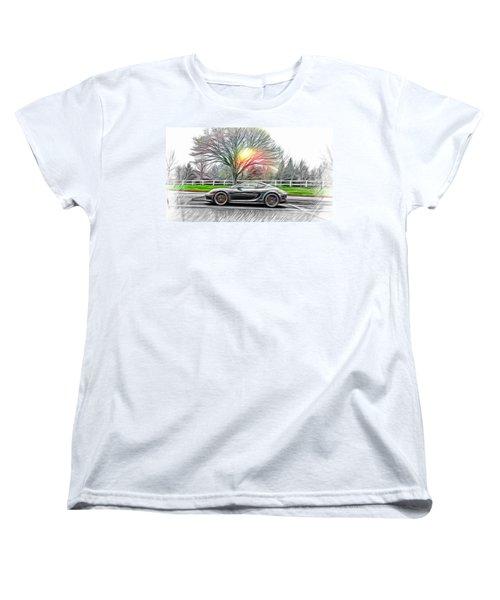 Women's T-Shirt (Standard Cut) featuring the photograph Porsche Gt In Oil by Aaron Berg