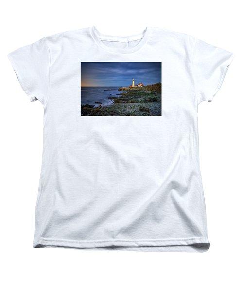 Women's T-Shirt (Standard Cut) featuring the photograph Portland Head Aglow by Rick Berk