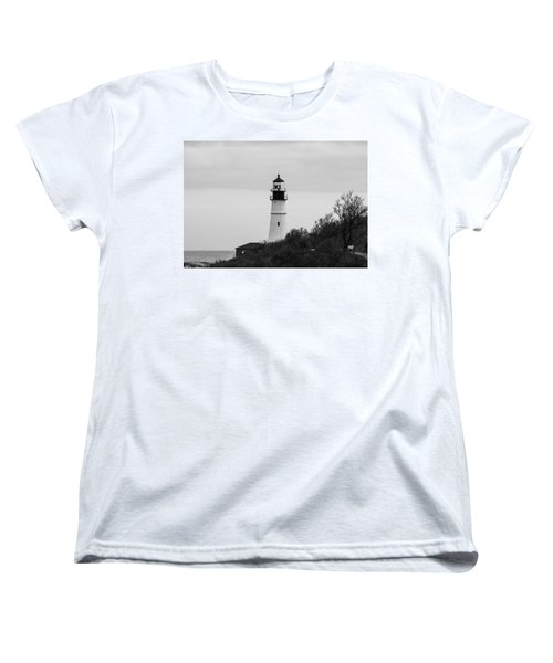 Portland Head Light Women's T-Shirt (Standard Cut) by Trace Kittrell