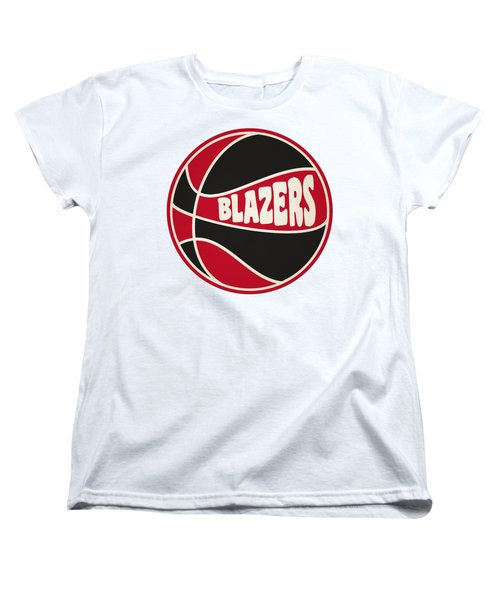 Women's T-Shirt (Standard Cut) featuring the photograph Portland Trail Blazers Retro Shirt by Joe Hamilton