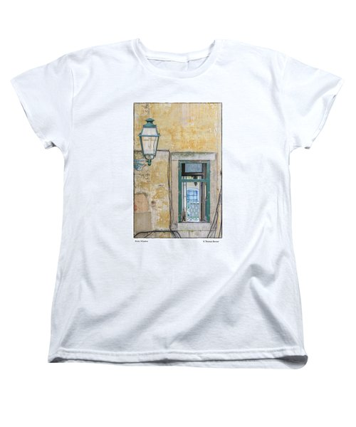Women's T-Shirt (Standard Cut) featuring the photograph Porto Window by R Thomas Berner