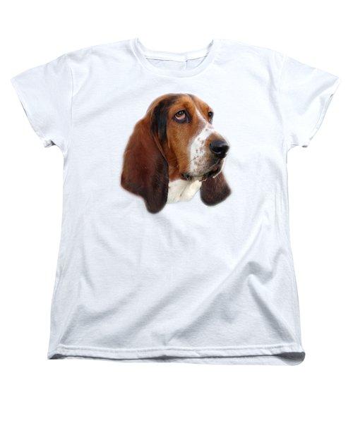 Women's T-Shirt (Standard Cut) featuring the photograph Portrait Of A Dog by George Atsametakis