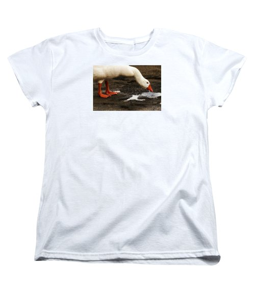 Women's T-Shirt (Standard Cut) featuring the photograph Pot Hole 01 by Kevin Chippindall