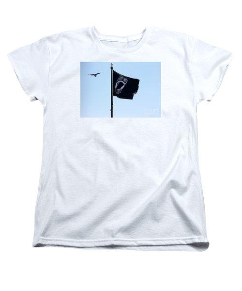 Pow Mia Women's T-Shirt (Standard Cut) by Joan Bertucci