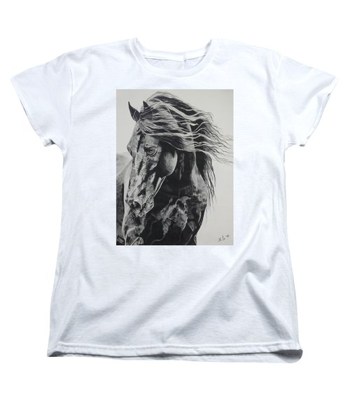 Power Of Horse Women's T-Shirt (Standard Cut) by Melita Safran