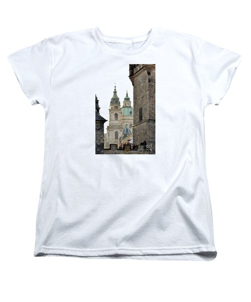 Women's T-Shirt (Standard Cut) featuring the digital art Prague-architecture 3 by Leo Symon