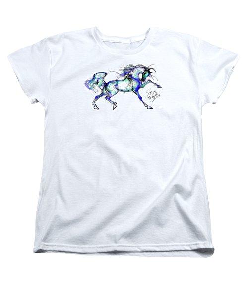 Prancing Arabian Horse Women's T-Shirt (Standard Cut) by Stacey Mayer