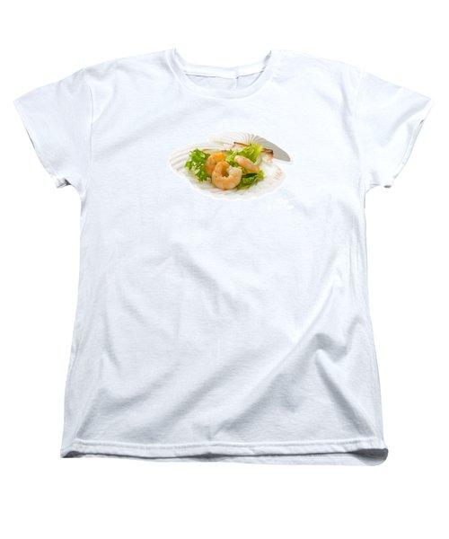 Prawn Appetizer Women's T-Shirt (Standard Cut) by Amanda Elwell