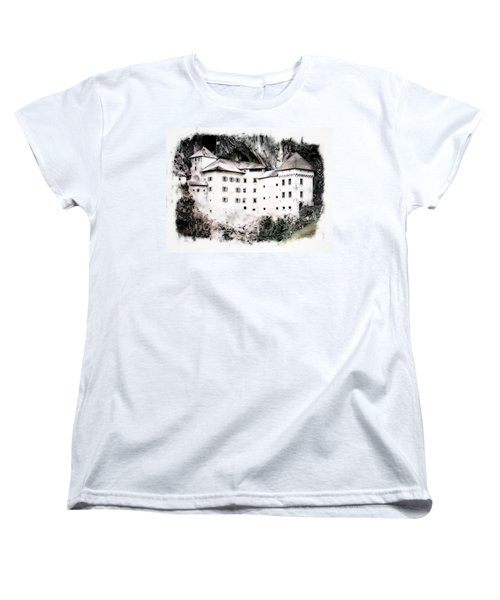 Women's T-Shirt (Standard Cut) featuring the photograph Predjama Castle by Joseph Hendrix