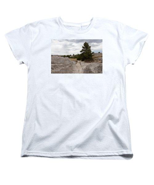 Preserved Wagon Ruts Of The Oregon Trail On The North Platte River Women's T-Shirt (Standard Cut) by Carol M Highsmith