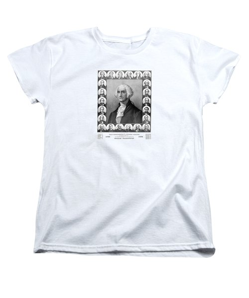 Presidents Of The United States 1789-1889 Women's T-Shirt (Standard Cut) by War Is Hell Store