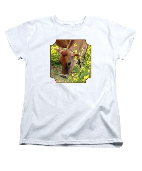Pretty Jersey Cow Square Women's T-Shirt (Standard Cut)