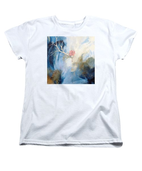 Women's T-Shirt (Standard Cut) featuring the painting Priestess by Dina Dargo