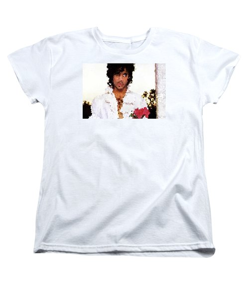 Prince Distorted Women's T-Shirt (Standard Cut) by Val Oconnor