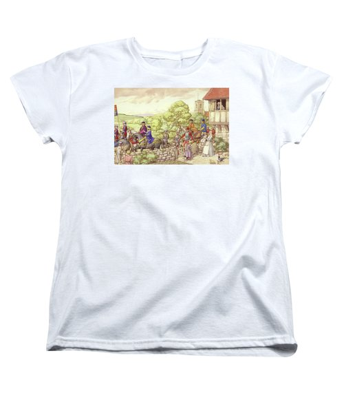 Prince Edward Riding From Ludlow To London Women's T-Shirt (Standard Cut) by Pat Nicolle