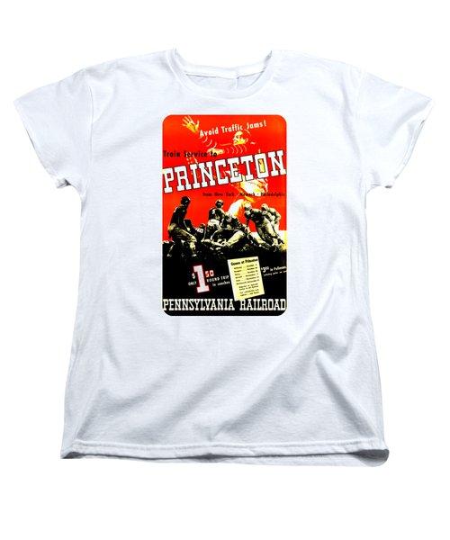 Princeton University Football 1936 Pennsylvania Railroad Women's T-Shirt (Standard Cut) by Peter Gumaer Ogden Collection