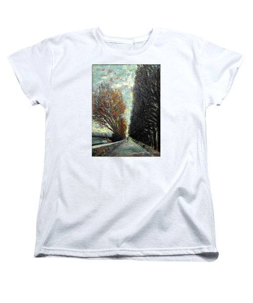 Women's T-Shirt (Standard Cut) featuring the painting Promenade by Walter Casaravilla