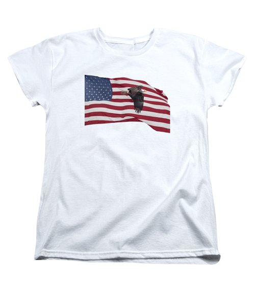 Proud To Be An American Women's T-Shirt (Standard Cut) by Thomas Young