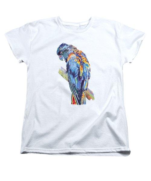 Psychedelic Parrot Women's T-Shirt (Standard Cut) by Lorraine Kelly