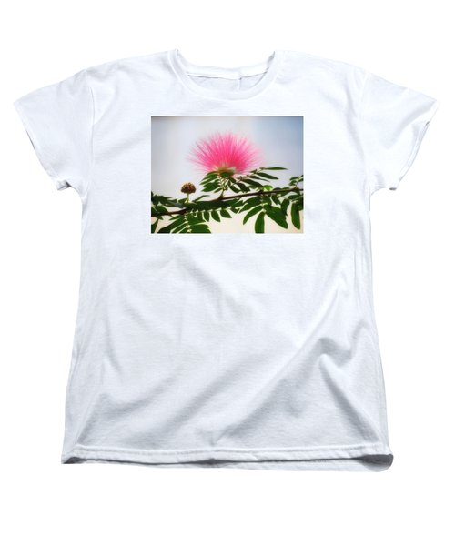 Puff Of Pink - Mimosa Flower Women's T-Shirt (Standard Cut) by MTBobbins Photography