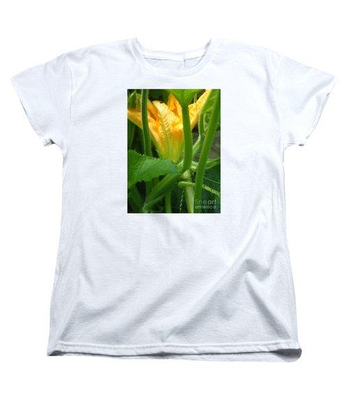 Women's T-Shirt (Standard Cut) featuring the photograph Pumpkin Blossom by Christina Verdgeline
