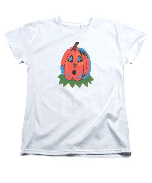 Pumpkin Women's T-Shirt (Standard Cut) by Kathleen Sartoris