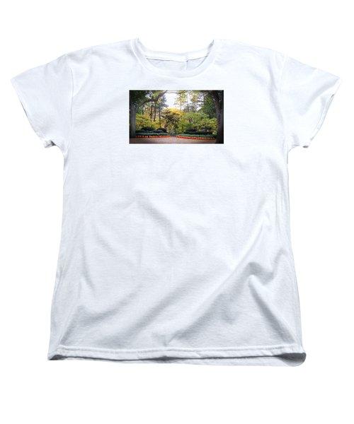 Pumpkins In A Row Women's T-Shirt (Standard Cut) by Teresa Schomig