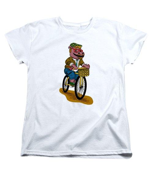 Pun Intended - Hipsterpotamus - Hipsters- Funny Design Women's T-Shirt (Standard Cut)
