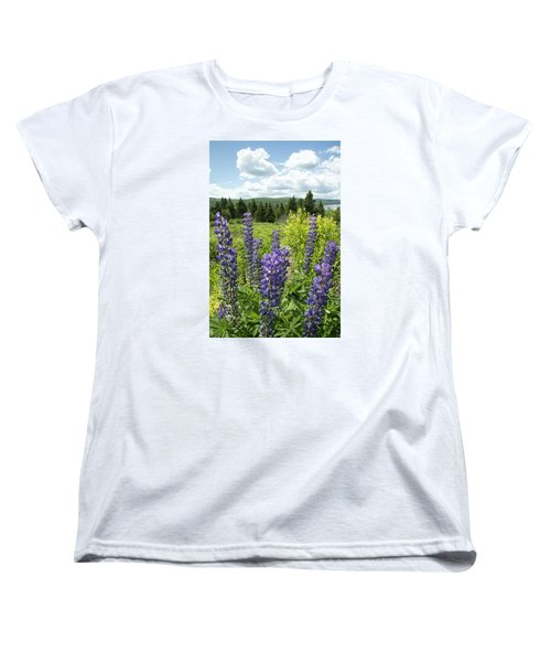 Purple Lupines Women's T-Shirt (Standard Cut) by Paul Miller