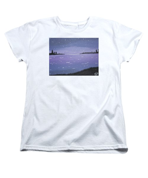 Purple Skies Women's T-Shirt (Standard Cut) by Cyrionna The Cyerial Artist