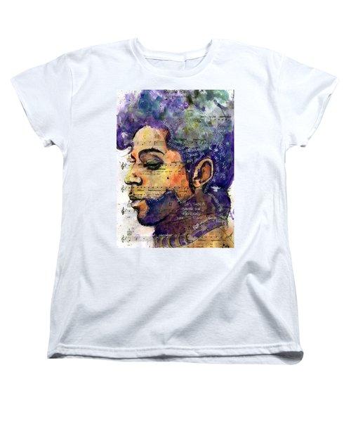 Purple Tears Women's T-Shirt (Standard Cut) by Howard Barry