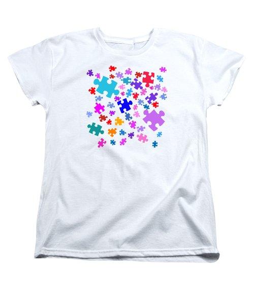 Puzzle Pieces Women's T-Shirt (Standard Cut)