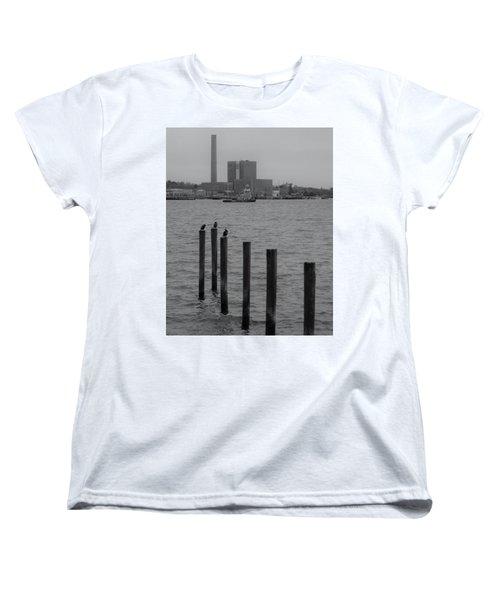 Q. River Women's T-Shirt (Standard Cut) by John Scates
