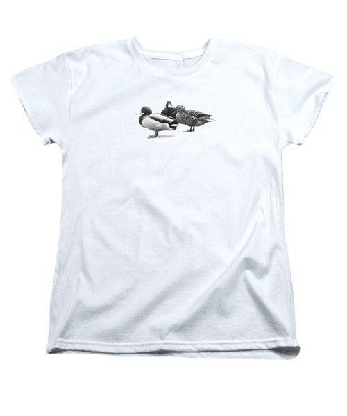 Women's T-Shirt (Standard Cut) featuring the photograph Quackers by Michael Swanson