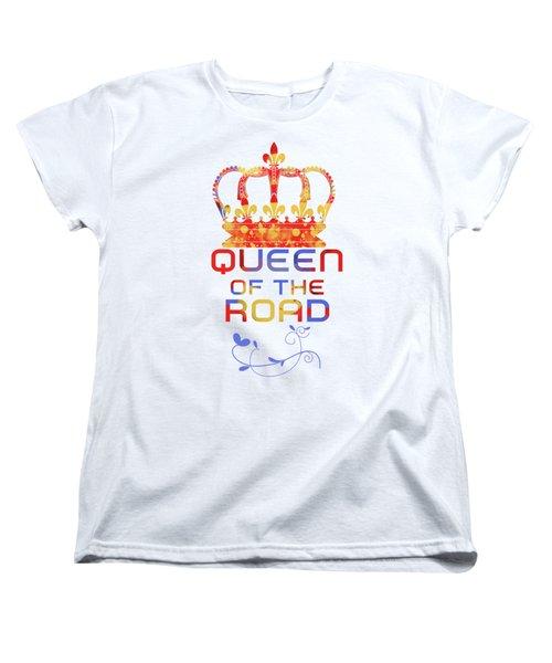 Queen Of The Road Women's T-Shirt (Standard Cut) by Pedro Cardona