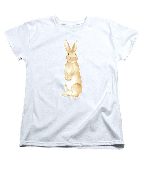 Rabbit Watercolor Women's T-Shirt (Standard Cut) by Taylan Apukovska