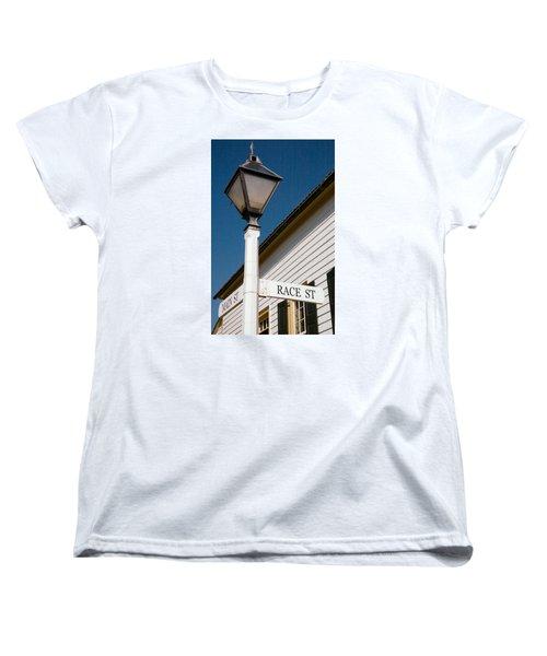 Race St Old Salem Women's T-Shirt (Standard Cut) by Bob Pardue