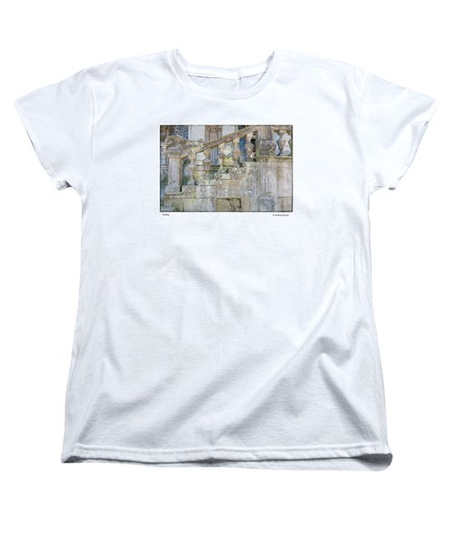 Women's T-Shirt (Standard Cut) featuring the photograph Railing by R Thomas Berner