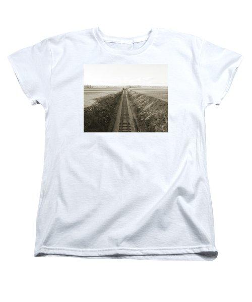 Railroad Cut, West Of Gettysburg Women's T-Shirt (Standard Cut)