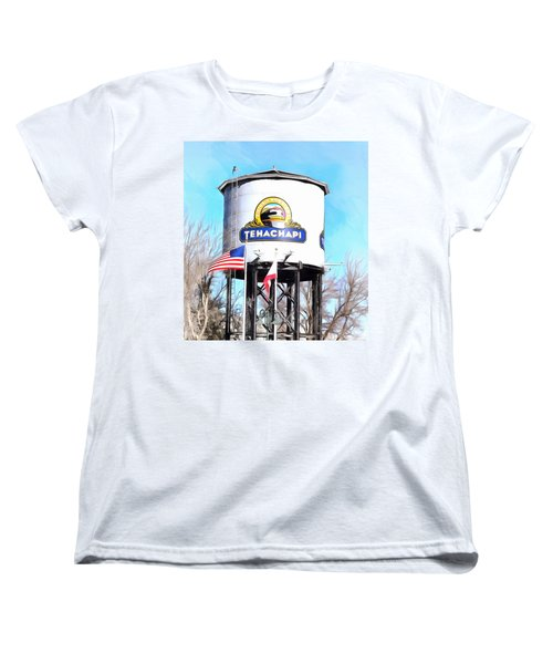 Women's T-Shirt (Standard Cut) featuring the photograph Railroad Park Tehachapi California Detail by Floyd Snyder