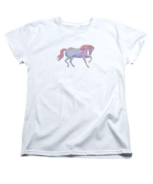 Rainbow Pony II Women's T-Shirt (Standard Cut) by Elizabeth Lock