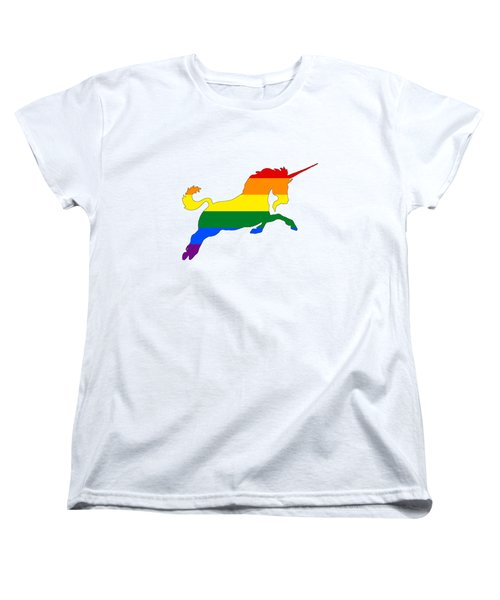 Rainbow Unicorn Women's T-Shirt (Standard Cut) by Mordax Furittus